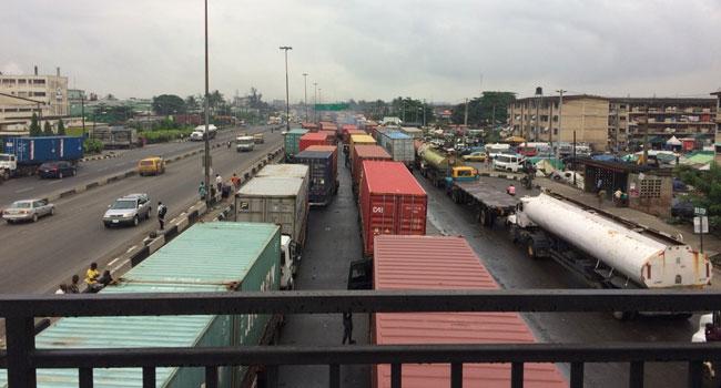 Lagosians Groan As Trucks Block Entire Stretch Of Apapa Oshodi Expressway
