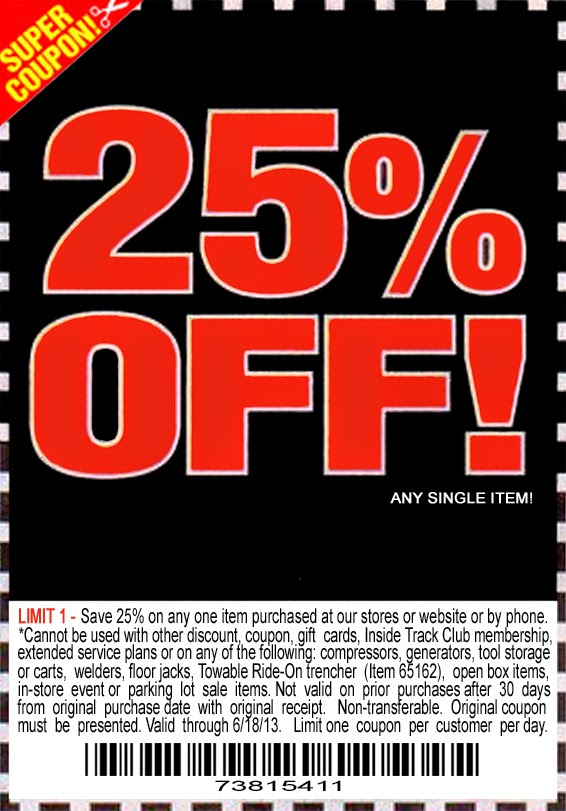 Harbor Freight Tools 25 Off Coupons Knight Coupons