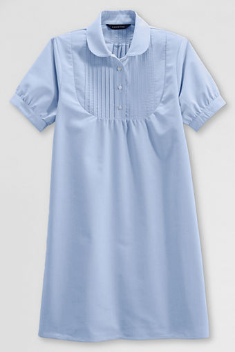 f92072abf48ab Lands End has School Uniform Girls  Short Sleeve Pintuck Oxford Dresses on  sale for only  4.99. Free Shipping. Light blue 14