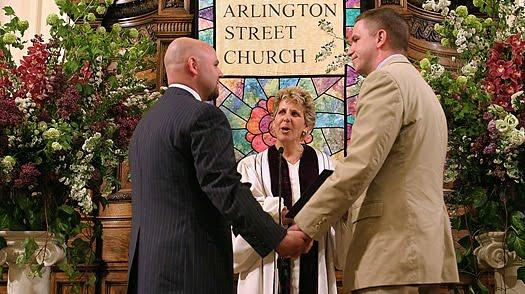 Arlington Church - gay couple marry