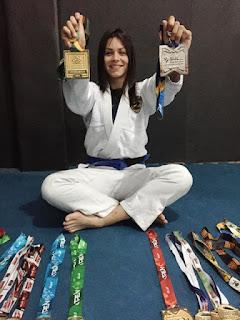 Cajatiense é campeã brasileira e vice campeã sul-americana de Jiu Jitsu e soma 21 medalhas em 2018