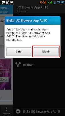 Cara Blokir Iklan Yang Muncul Pada Aplikasi BBM di Android