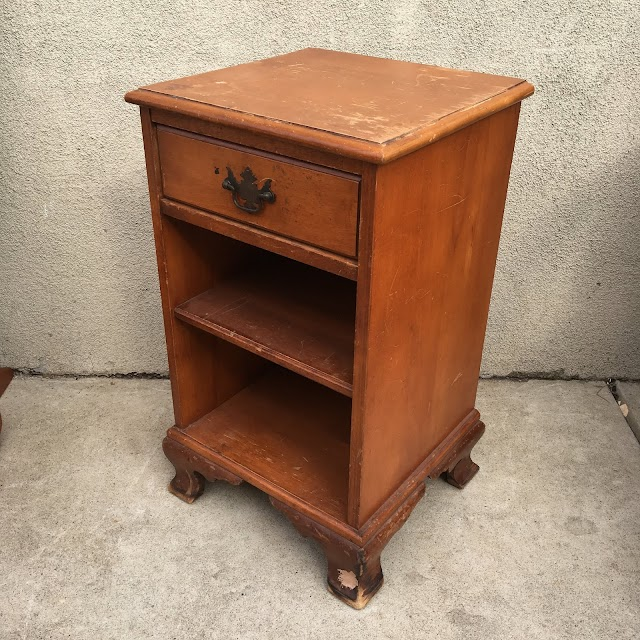 1 Drawer Nightstand with Shelves - $25