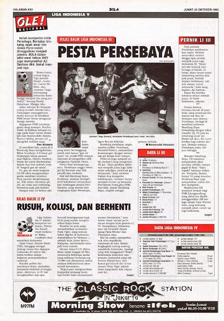 KILAS BALIK LIGA INDONESIA III PESTA PERSEBAYA