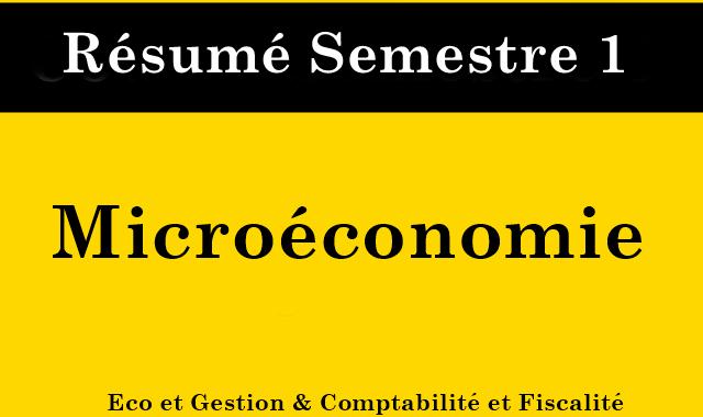 Résumé de Microéconomie S1