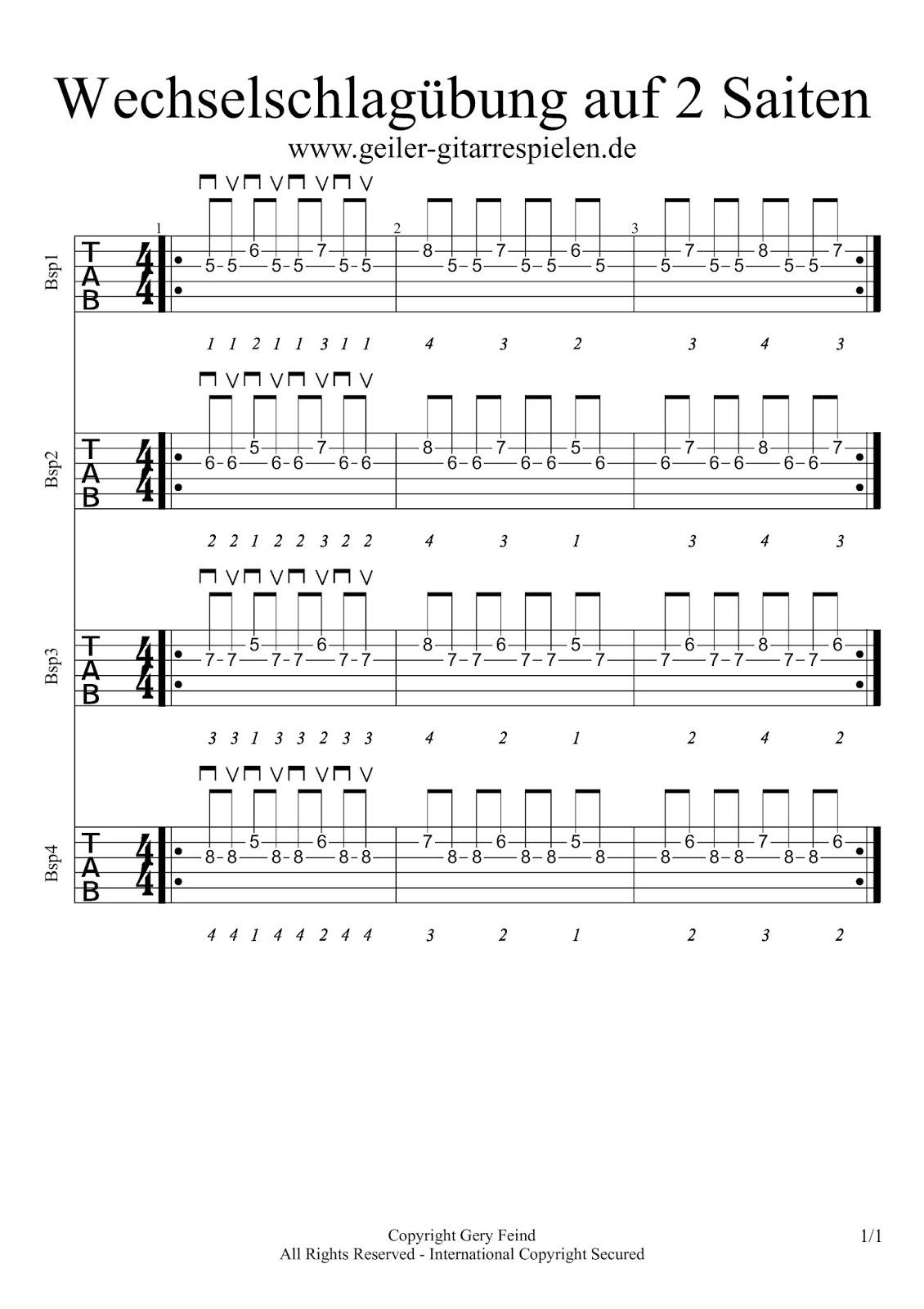 Fingerübungen gitarre