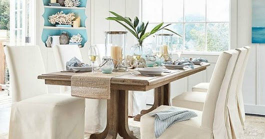 Coastal Calm Table & Dining Room by Pottery Barn | Shop the Look