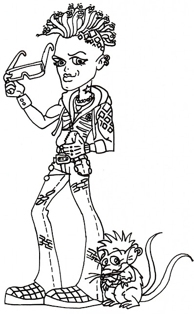 Free Printable Monster High Coloring Pages: Deuce Gorgon