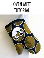 Sew an oven mitt with this step-by-step tutorial - makes a great personalized gift