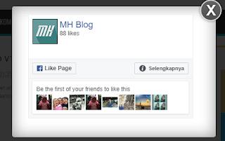 Cara Membuat Widget Like Fans Page Pop Up Keren, Cara Membuat Widget Like Fans Page Pop Up Keren melayang