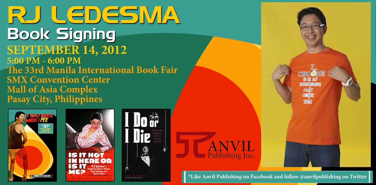RJ Ledesma book signing at the 33rd Manila International