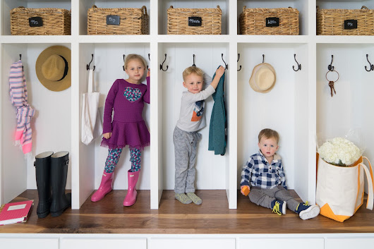 The Penny Parlor: Mudroom Cubbies with Superior Renovations