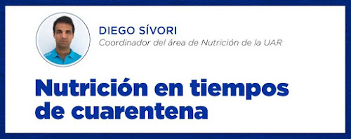 Diego Sívori, cinco consejos nutricionales #QuedateEnCasa