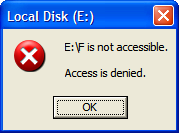is Not Accessible, Access is Denied