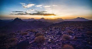 غروب الشمس من جبل اسكرام