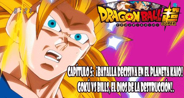 Ver capitulo 5 online gratis, Kaiōsama ha ocultado a Goku en su casa derrumbada, e intenta distraer a Bills de la presencia de Goku.