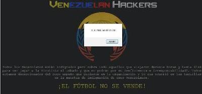"""La página oficial de la empresa Main Event fue hackeada por un grupo de aficionados molestos e indignados por los hechos ocurridos esta mañana en las taquillas del José Antonio Anzoátegui de Puerto La Cruz en marco del duelo ante Chile por las Eliminatorias Sudamericanas. Un grupo de Hackers denominados """"Venezuelan Hackers"""" colocó otro index de la página de la productora encargada de la venta de los boletos de los partidos de la Vinotinto aquí en el país. Con un mensaje que expresa lo siguiente : """"Todos los Venezolanos están indignados pero sobre todo aquellos que viajaron durante horas y"""