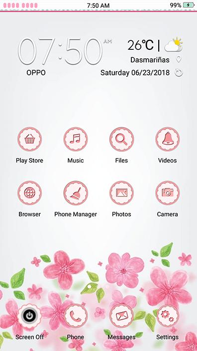 Oppo Theme: Oppo Vintage Floral Theme