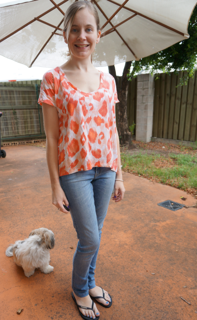 Sass and Bide New day rising neon leopard tee skinny jeans