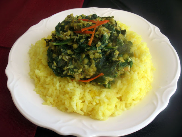 Mung Beans and Spinach