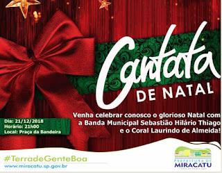 Prefeitura de Miracatu realiza Cantata de Natal