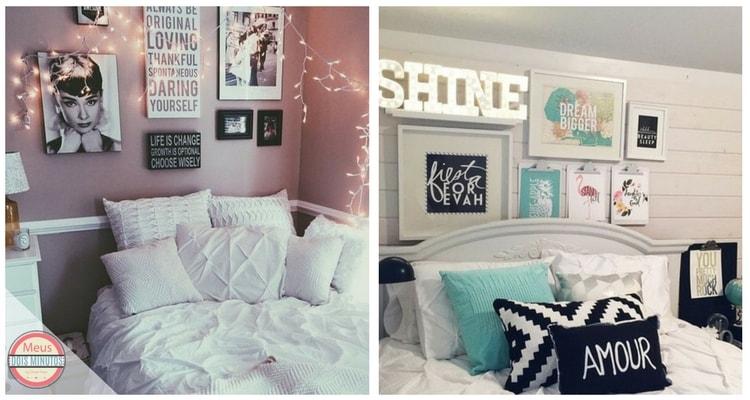 decorar com poster quarto menina