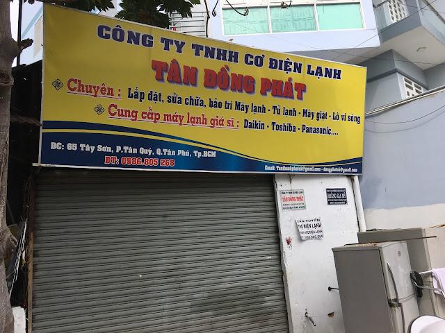 Công Ty TNHH Cơ Điện Lạnh Tân Đồng Phát - 65 Tây Sơn, p.Tân Quý, Tân Phú
