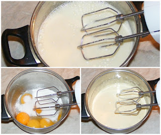 galbenusuri frecate cu zahar si vin la bain marine, preparare reteta compozitie crema zabaglione de casa, retete culinare de deserturi italiene,