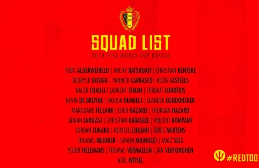 Belgium World Cup 2018 preliminary list includes Adnan Januzaj; Nainggolanin out