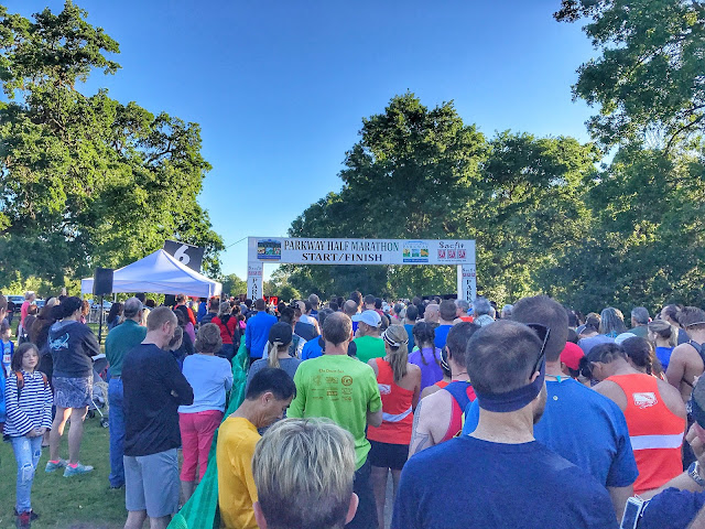 American River Parkway Half Marathon start line