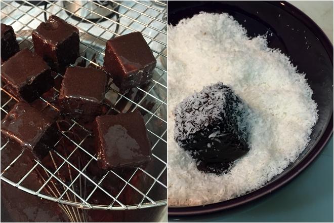 Lamingtons de chocolate