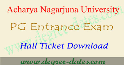 ANU PGCET 2017 hall ticket download anucet results date