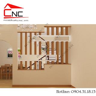 Lam gỗ cầu thang 3 cấp, lam gỗ cầu thang cổ điển bắt trần