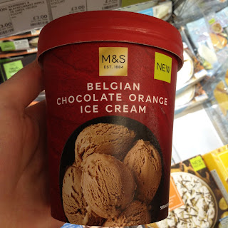 M&S Chocolate Orange Ice Cream