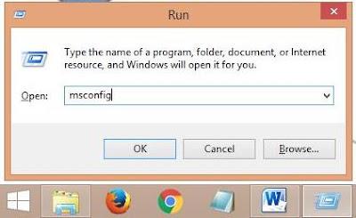 mempercepat windows 8 dengan msconfig