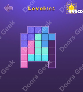 Cheats, Solutions, Walkthrough for Move Blocks Easy Level 102