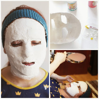 Making a face mask for my crochet self portrait