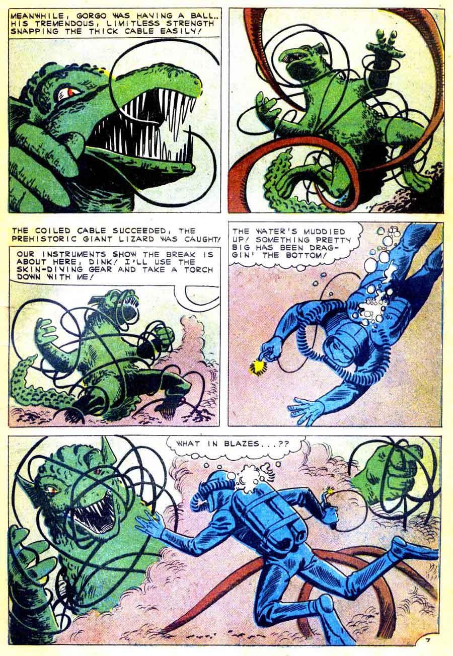 Gorgo v1 #2 charlton monster comic book page art by Steve Ditko
