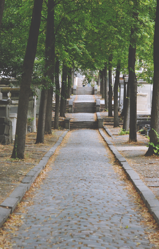 Flight of steps at Pere Lachaise Cemetery