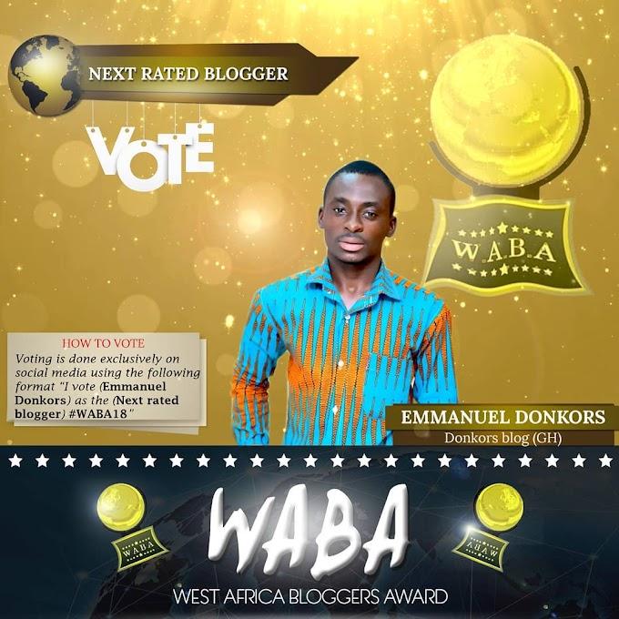 Donkorsblog, Others nominated for West Africa Bloggers Award 2018