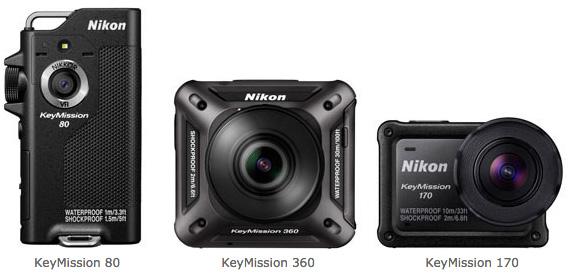 Камеры Nikon KeyMission 80, 170, 360