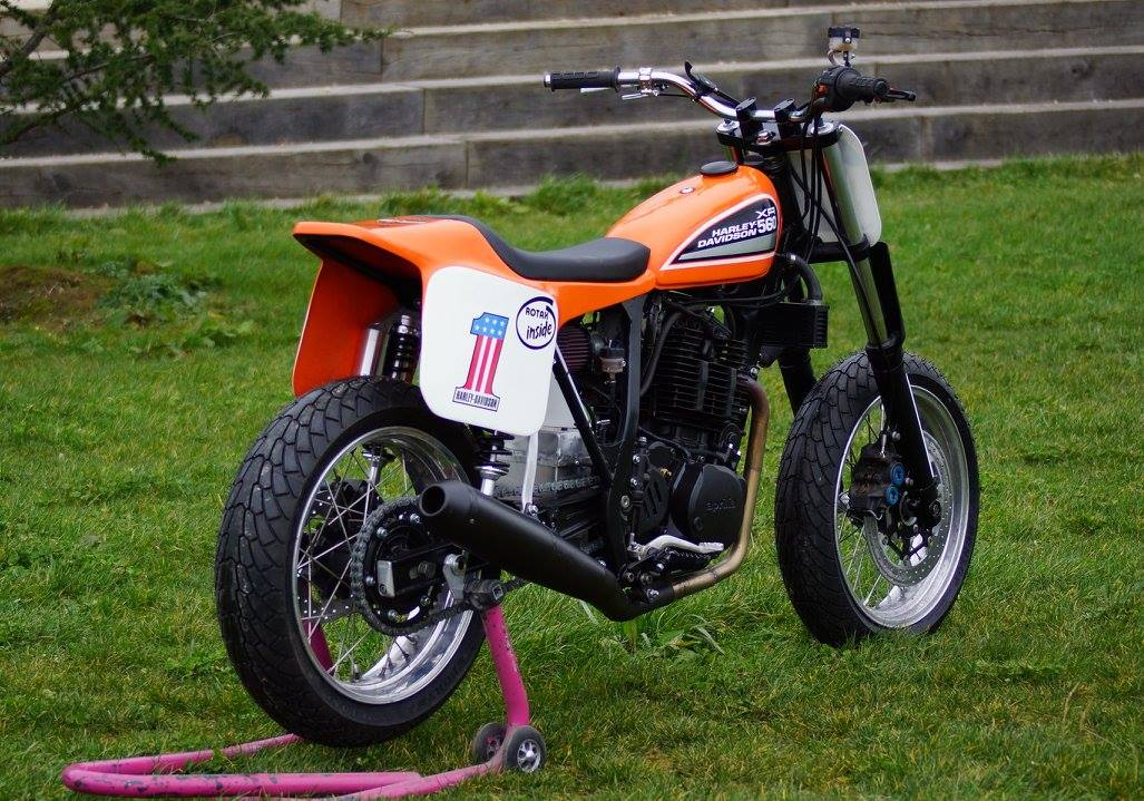 Xr 560 rotax dirt track rocketgarage cafe racer magazine for Dirt track garage