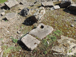 Piercebridge Roman Bridge stone block with worked hole