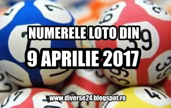 Numerele castigatoare extrase la tragerile loto din 9 aprilie 2017