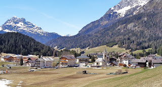Sappada enjoys a picturesque setting in the foothills of the Alps, developed largely by Germans.