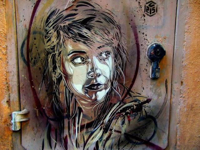 Уличное искусство Кристиана Гуеми (Christian Guémy aka C215) 5
