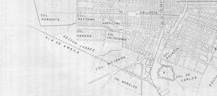 Planos de la colonia del fresno 1920