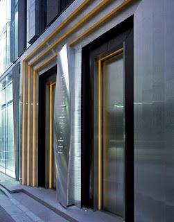 ديكورات مداخل مجمعات ديكورات حول المصعد للجدار والسقف
