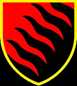 нарукавний знак (емблема) 55-ї артилерійської бригади Запорізька Січ