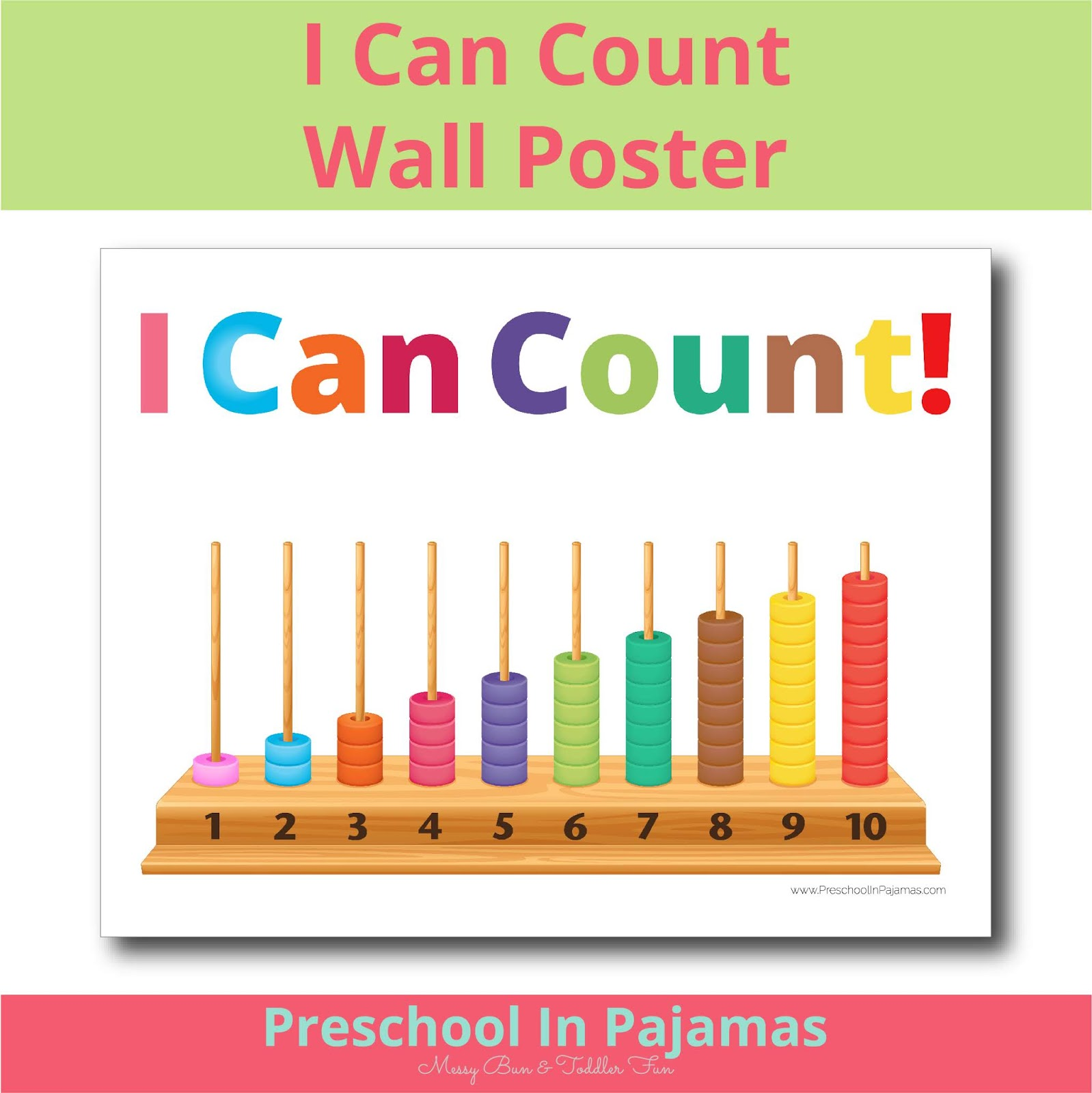 Free I Can Count Wall Printable Poster